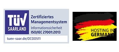 ISO-Zertifiziert und Hosting in Deutschland